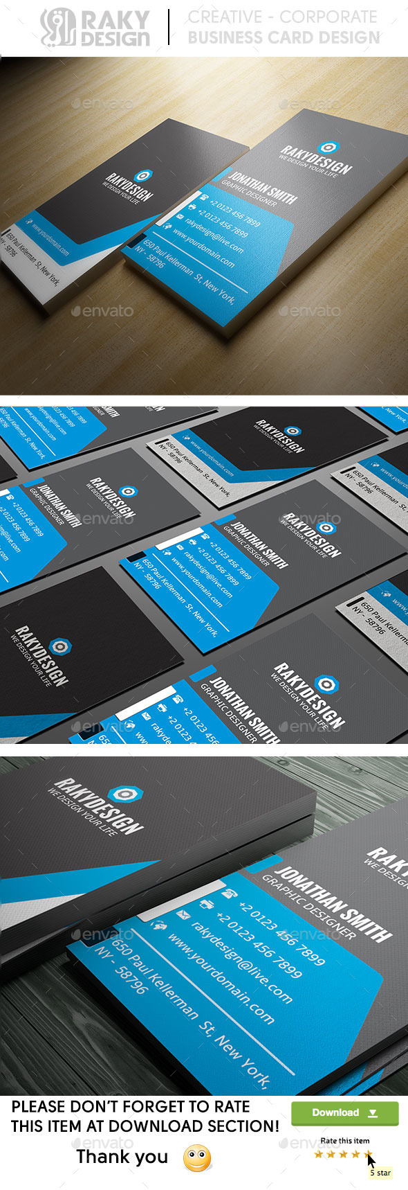 GraphicRiver Blue Corporate Business Card 8946160