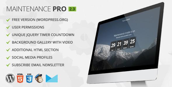 Maintenance PRO - WordPress plugin - CodeCanyon Item for Sale