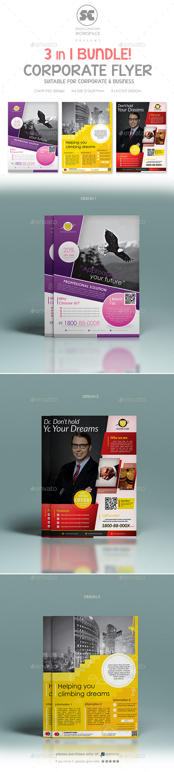 GraphicRiver Multi purpose Corporate Flyer Bundle 8946285
