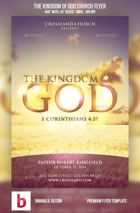 GraphicRiver The Kingdom of God Church Flyer 8946300