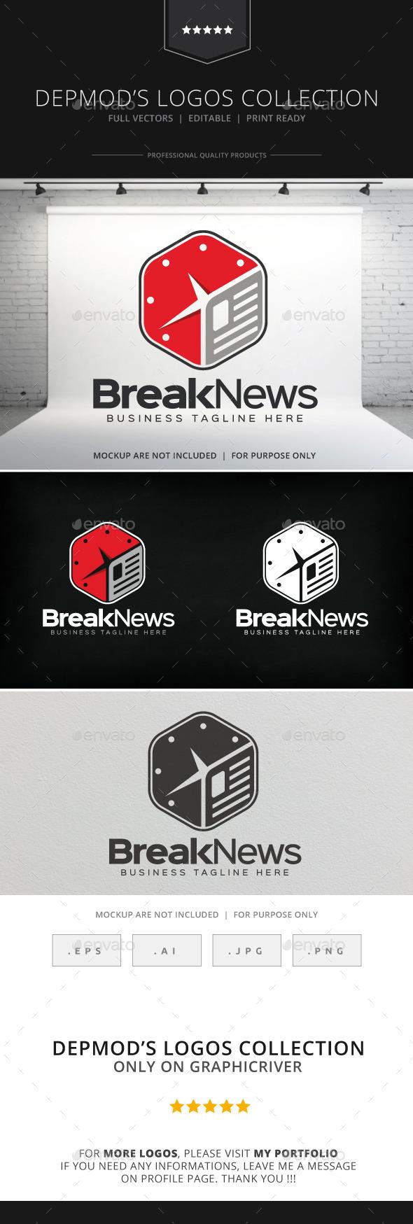 GraphicRiver Break News Logo 8946301