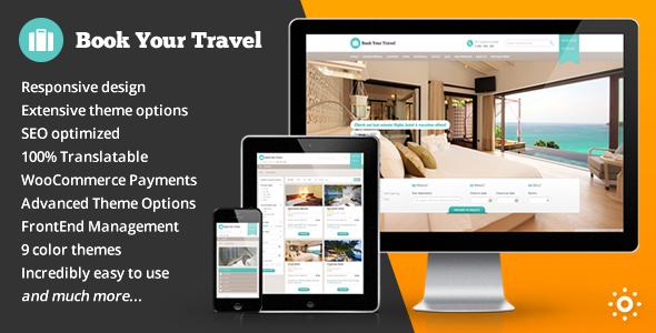 Book Your Travel - Online Booking WordPress Theme - Travel Retail