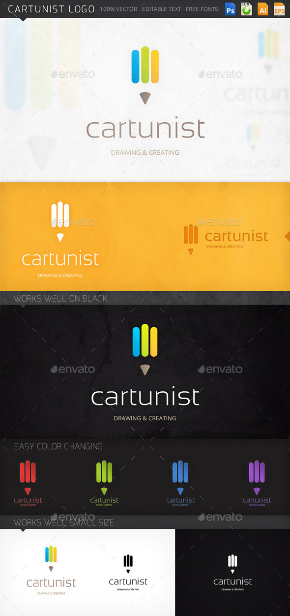 GraphicRiver Cartunist Logo 8946393