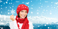 smiling young woman in winter clothes - PhotoDune Item for Sale