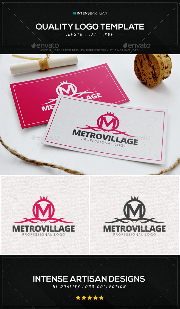 GraphicRiver Metro Village Logo Template 8946428