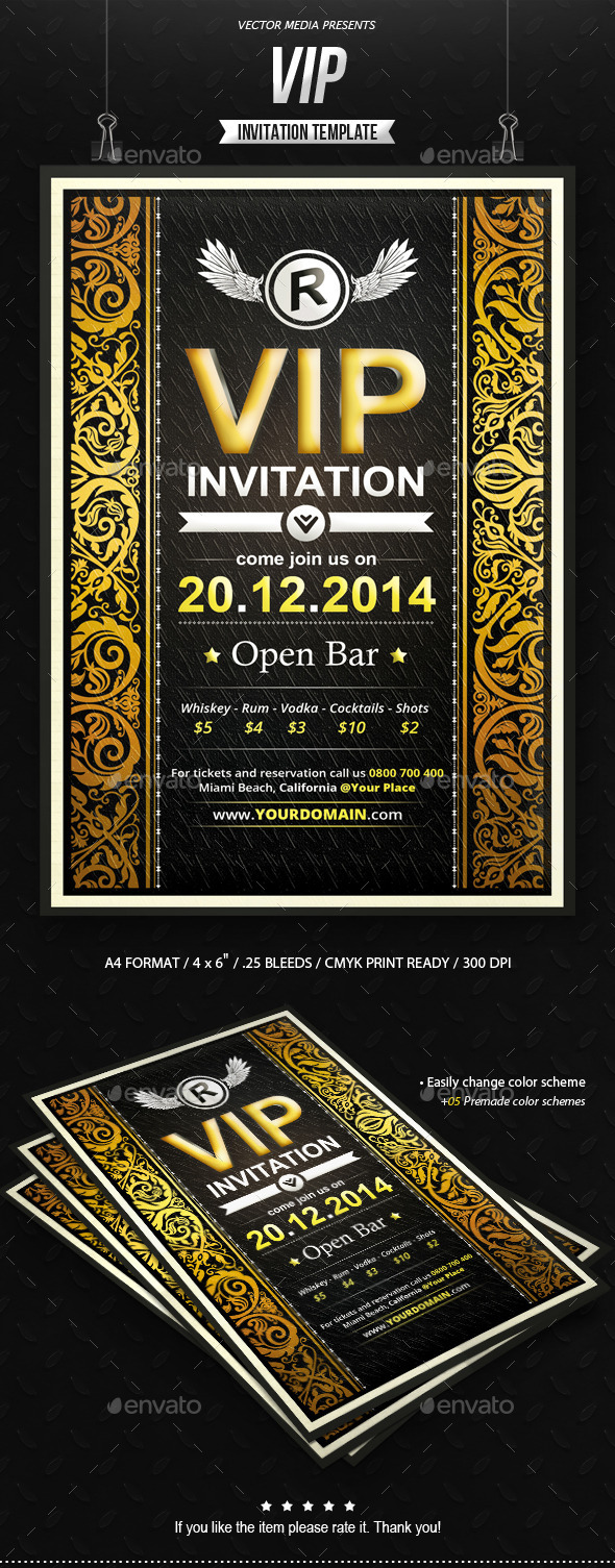 GraphicRiver VIP Invitation 8938161