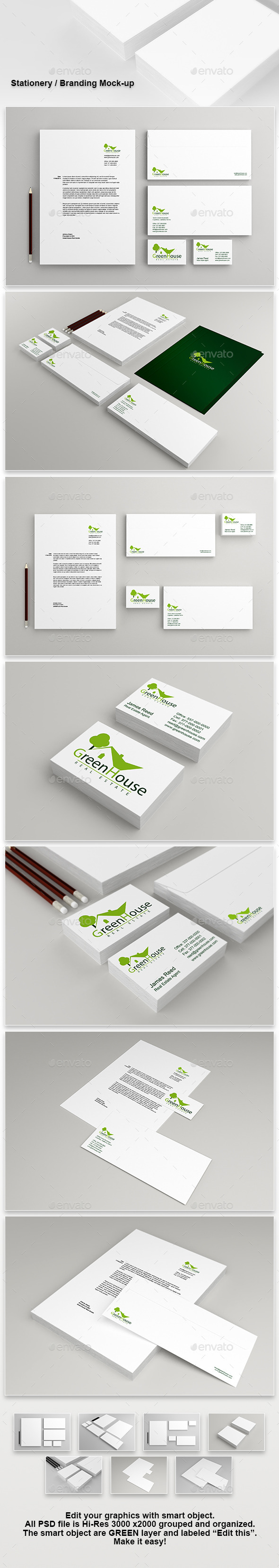 GraphicRiver Stationery Branding Mock-Up 8932310