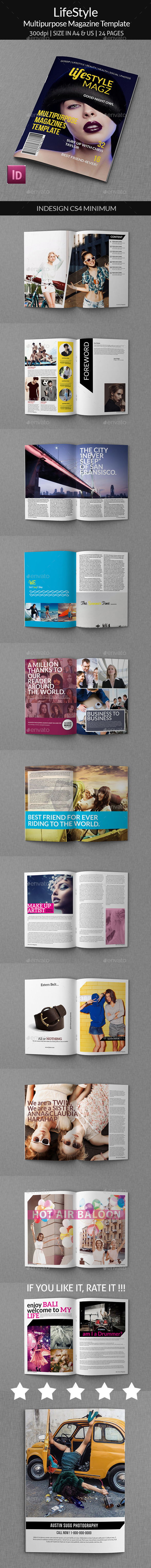 GraphicRiver Lifestyle Multipurpose Magazine Template 8946453