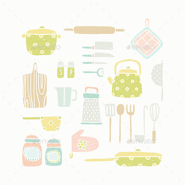 GraphicRiver Kitchen Tools 8946662