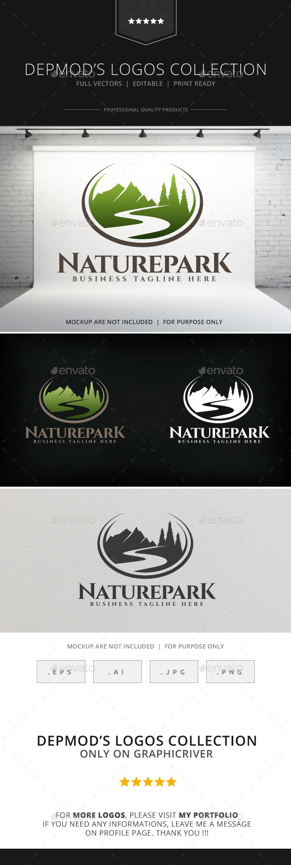 GraphicRiver Nature Park Logo 8946775