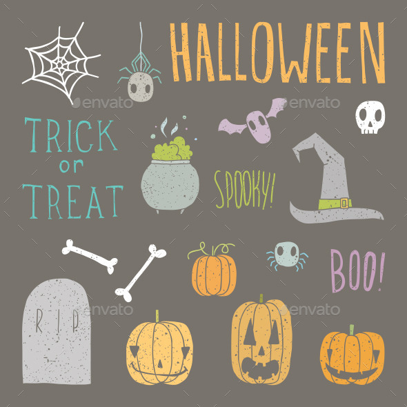 GraphicRiver Halloween Set 8946781