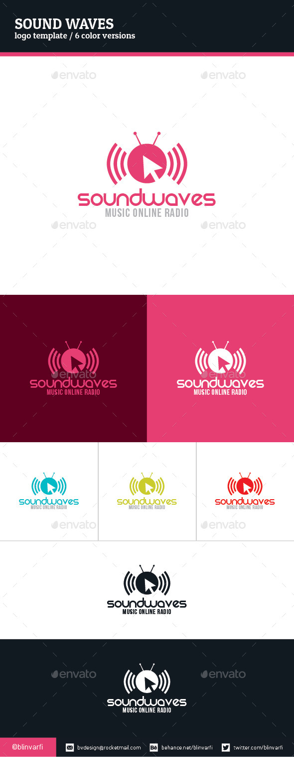 Sound Waves Logo Template