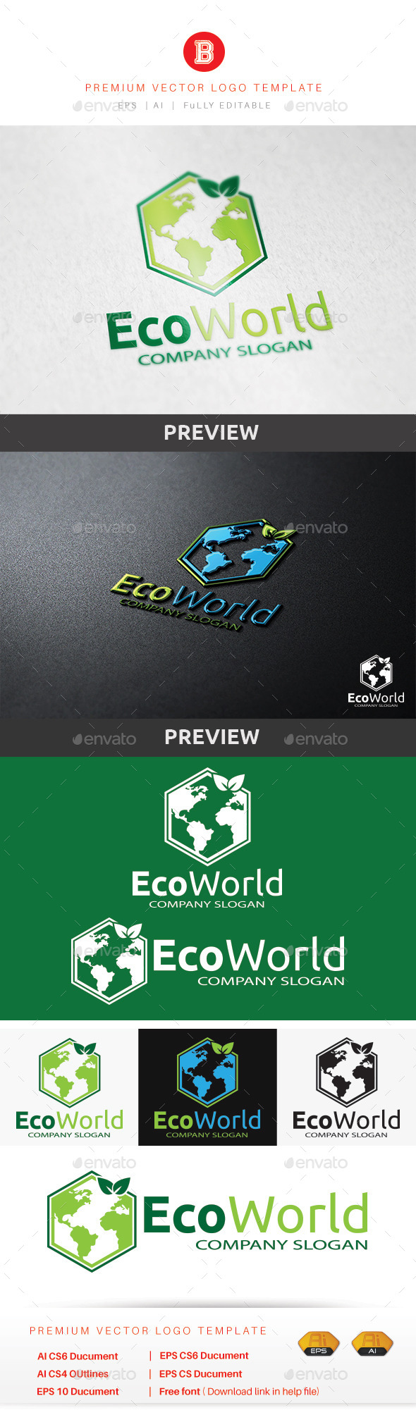 GraphicRiver Eco World 8947335