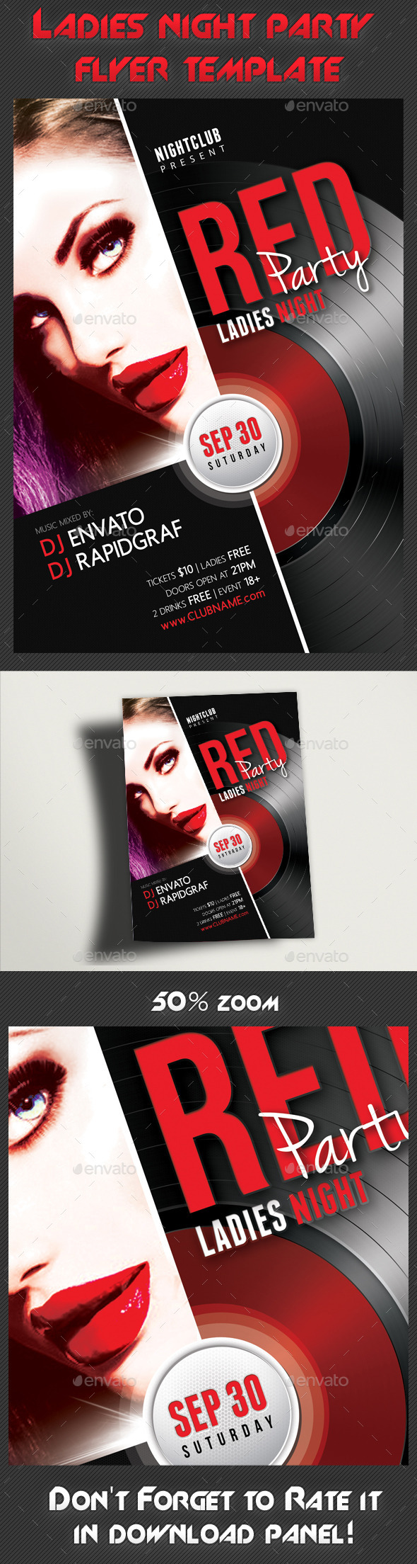 GraphicRiver Ladies Night Party Flyer Template 8947527