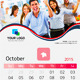 Clean Wall Calendar - 2015 - GraphicRiver Item for Sale