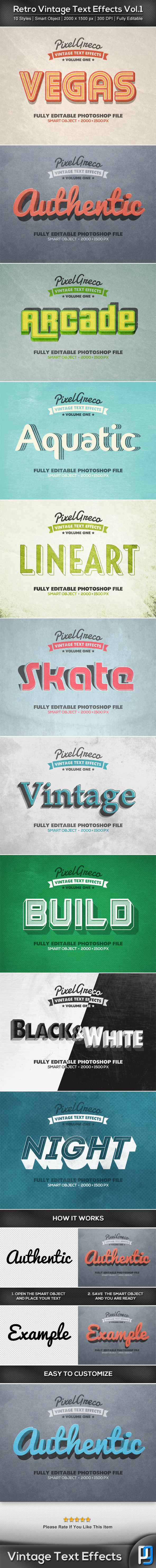 GraphicRiver Retro Vintage Text Effects Vol.1 8935050