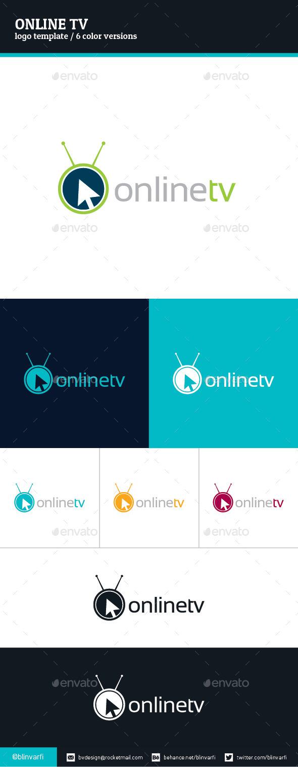 Online TV Logo Template - Symbols Logo Templates