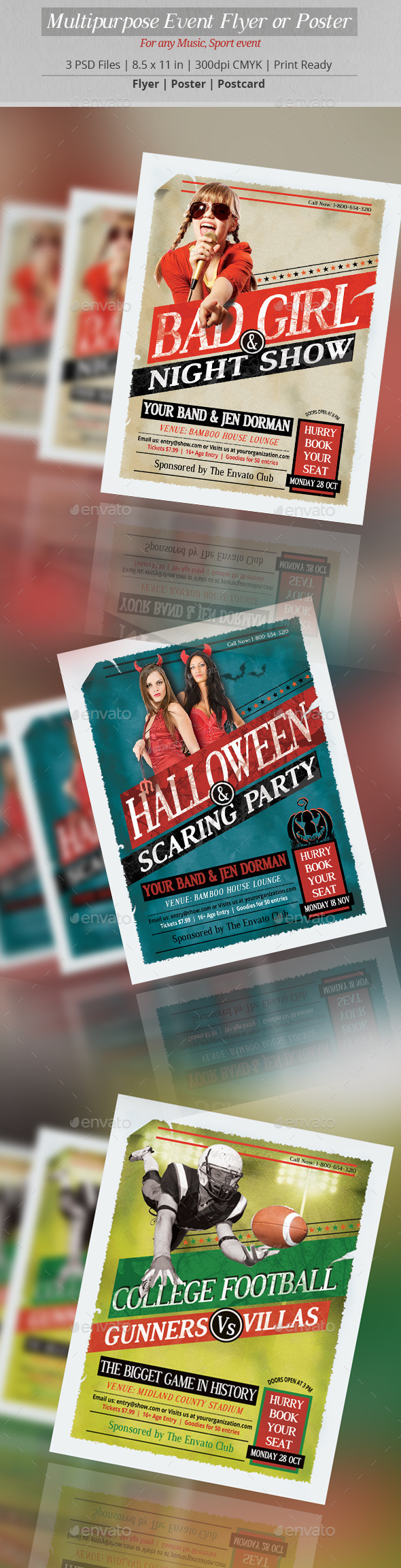 GraphicRiver Multipurpose Event Flyer or Poster 8947991