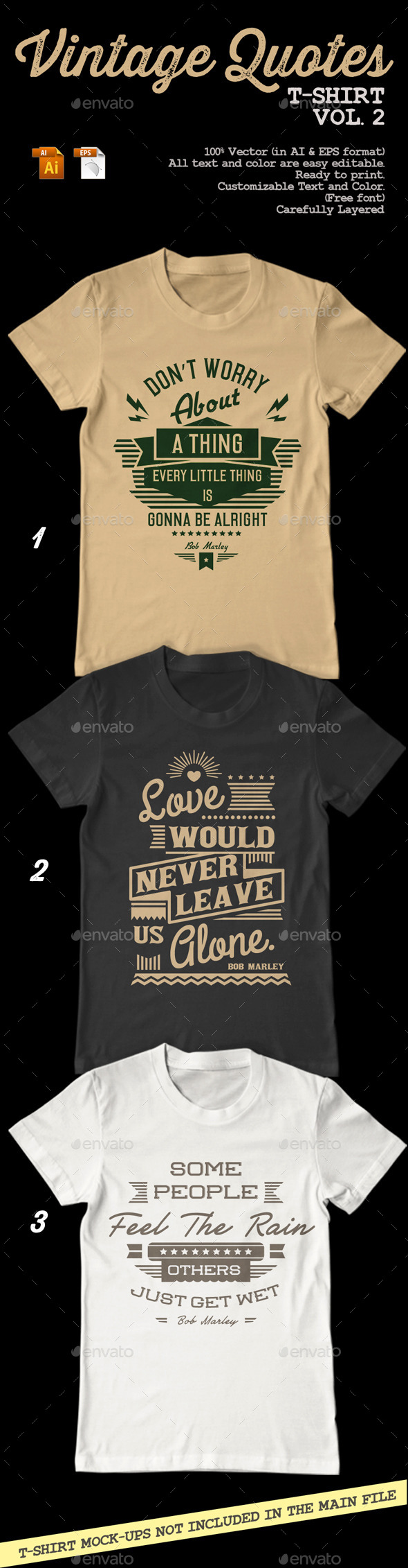 GraphicRiver Vintage Quotes T-Shirt Vol 2 8948213