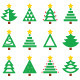Christmas Green Tree Various Types Icons  - GraphicRiver Item for Sale