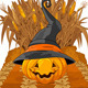 Pumpkin on Corn Maze  - GraphicRiver Item for Sale