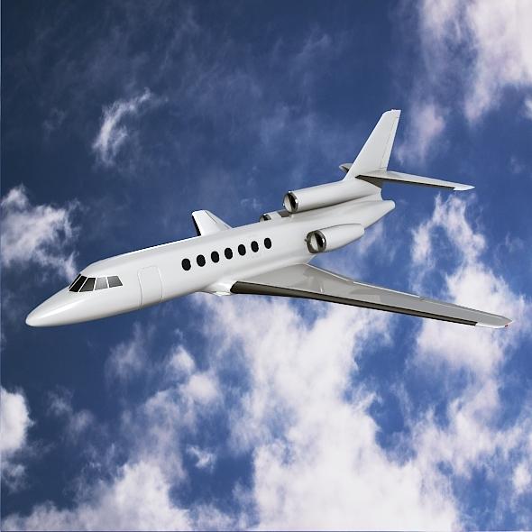 3DOcean Dassault Falcon50 business jet 8948582