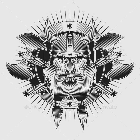 GraphicRiver Coat of Arms of the Vikings in Style Tattoos 8948761