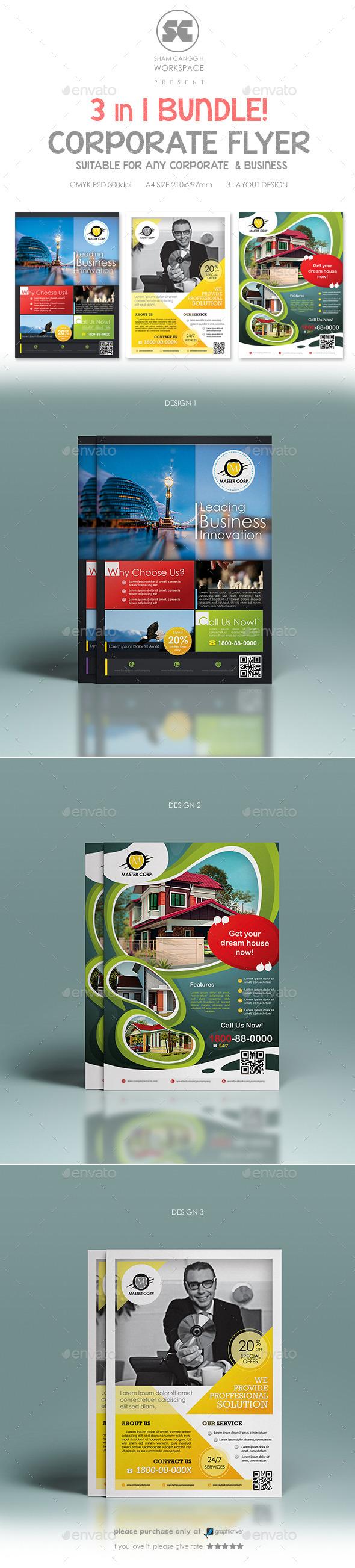 GraphicRiver Multi Purpose Corporate Flyer Bundle 8939097