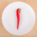 Fresh chili pepper on plate - PhotoDune Item for Sale