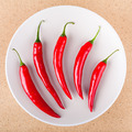 Fresh chili peppers on plate - PhotoDune Item for Sale
