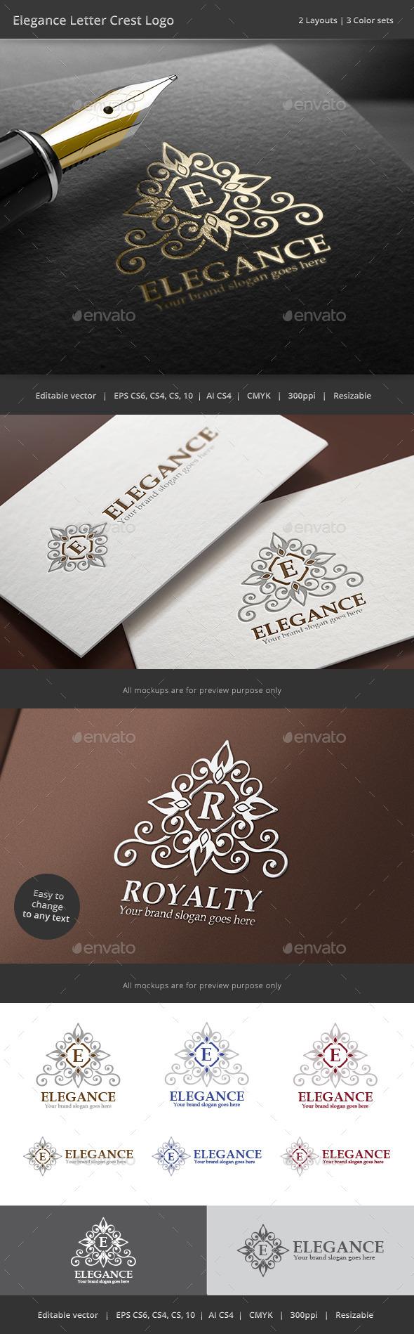GraphicRiver Elegance Letter Crest Logo 8948906