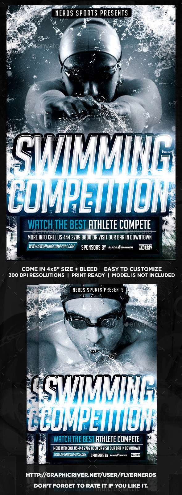 GraphicRiver Swimming Competition Flyer 8948946