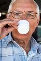 Senior man drinking coffee - PhotoDune Item for Sale