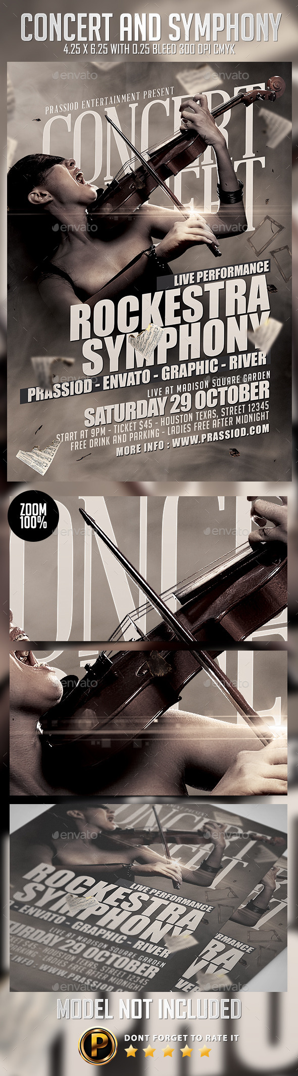 GraphicRiver Concert And Symphony Flyer Template 8949386