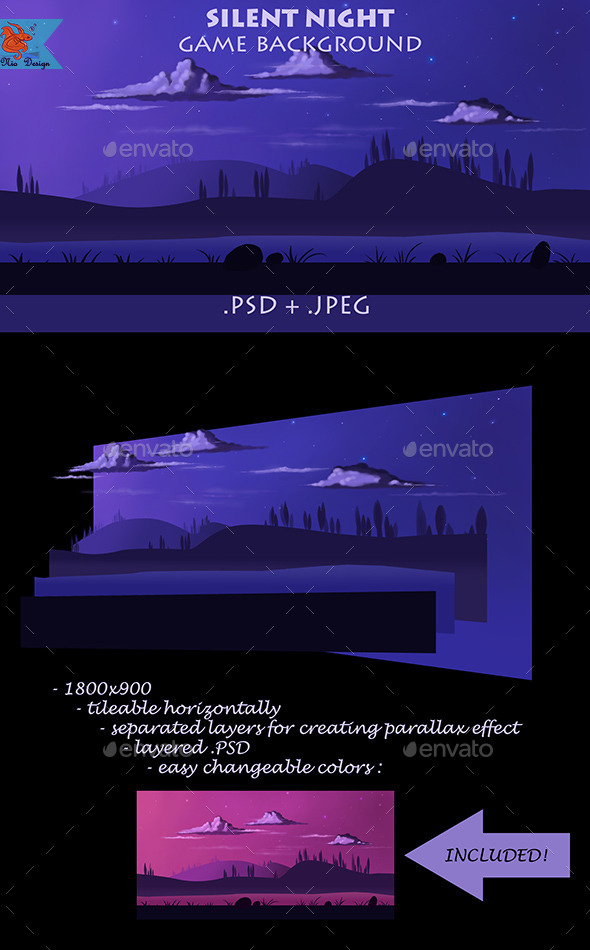 GraphicRiver Night Game Background 8949428