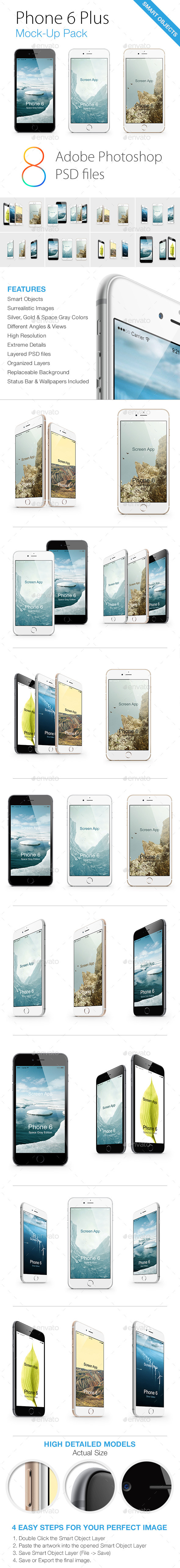 GraphicRiver Phone 6 Mock-Ups Pack 8947116