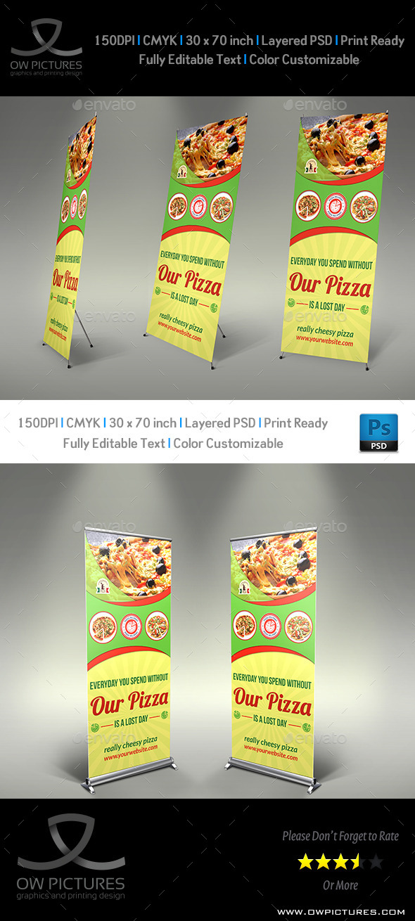 GraphicRiver Pizza Restaurant Signage Banner Template 8949651