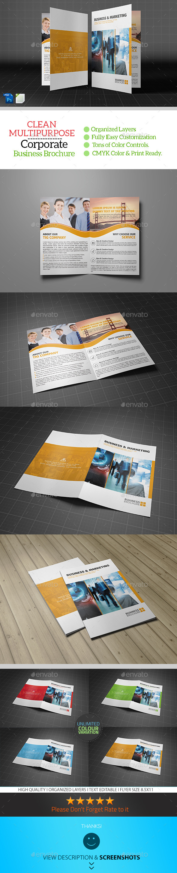 GraphicRiver Corporate Bifold Brochure Template Vol02 8949652