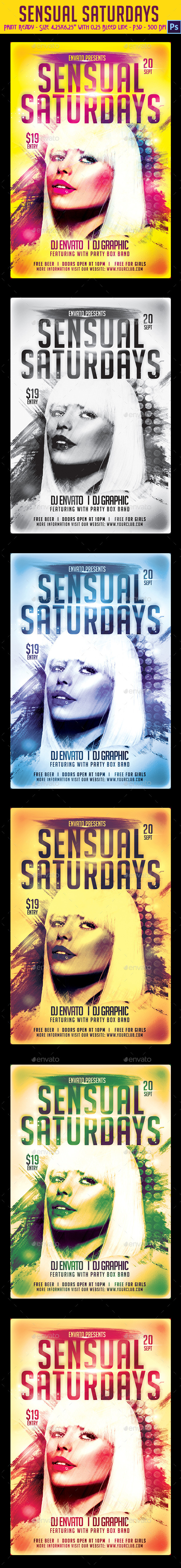 GraphicRiver Sensual Saturdays Party Flyer 8949738