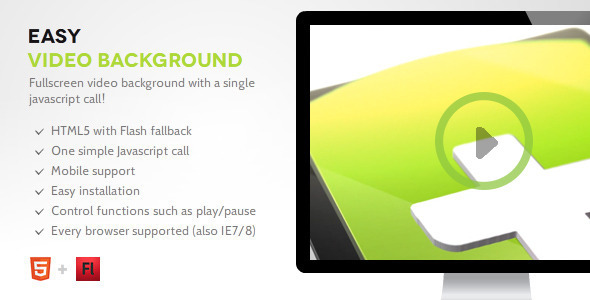 CodeCanyon Simple BG Easy Video Background 8949744