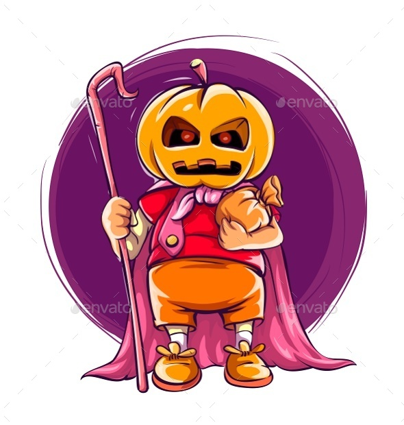 GraphicRiver Child in Halloween Costume with Pumpkin 8949891