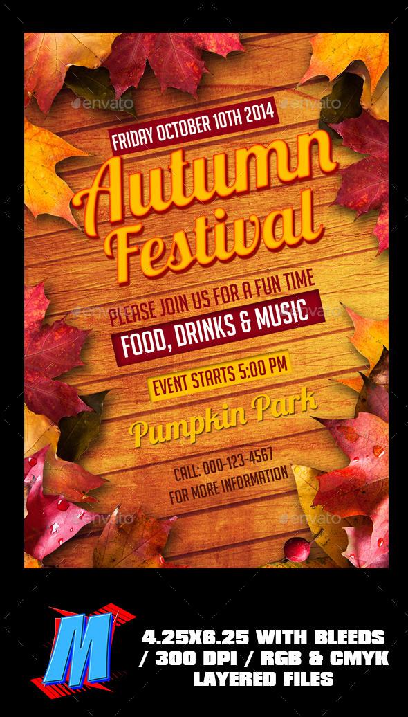 GraphicRiver Autumn Festival Flyer Template 8949912