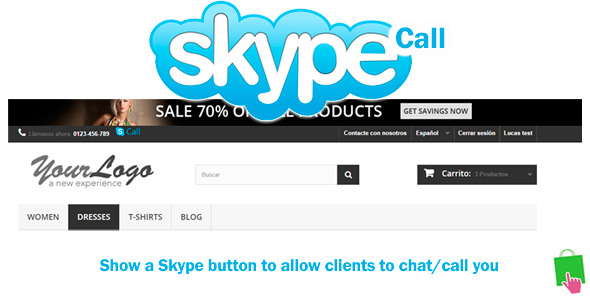 CodeCanyon Prestashop Skype Call Button 8949997