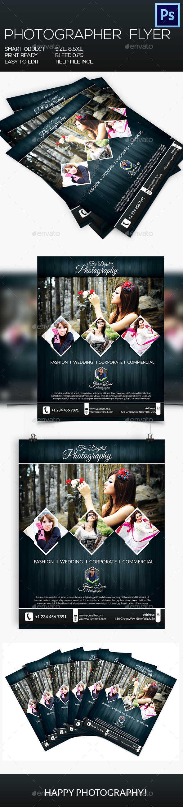 GraphicRiver Photographer Flyer 8950537