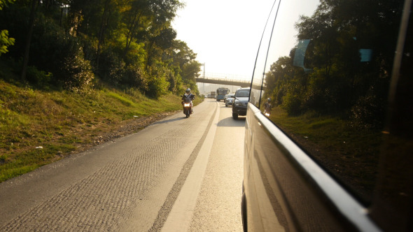 Traffic On Highway 3