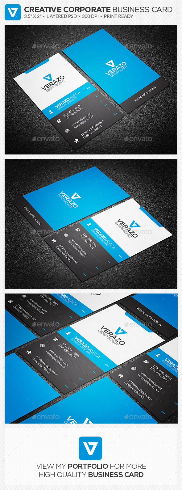GraphicRiver Creative Corporate Business Card 61 8950838