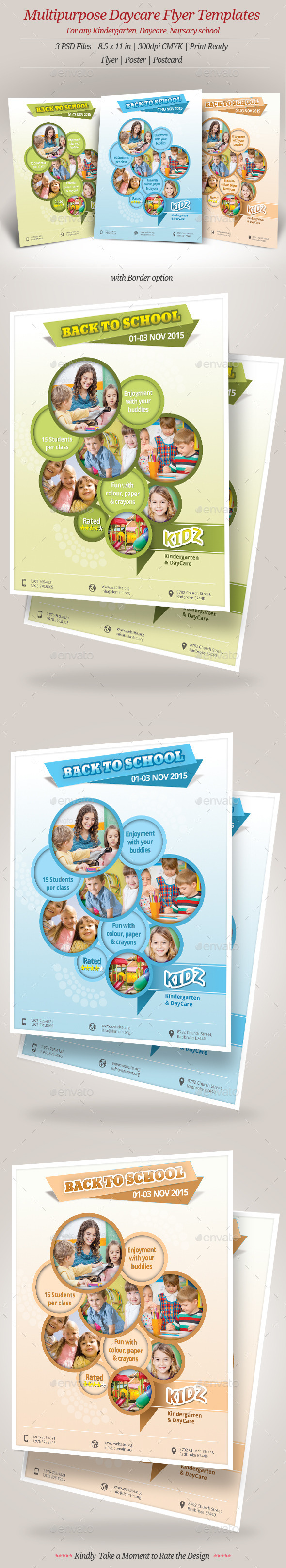 GraphicRiver Multipurpose Daycare Flyer Templates 8904490
