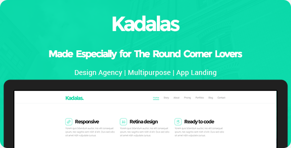 All the round corner lovers presenting you Kadalas a psd by Designsium. This a single page psd made especially to suit design agency needs. This can also be us