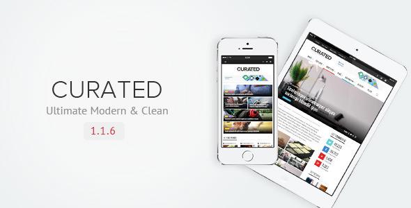 Curated | Ultimate Modern Magazine Theme - Blog / Magazine WordPress