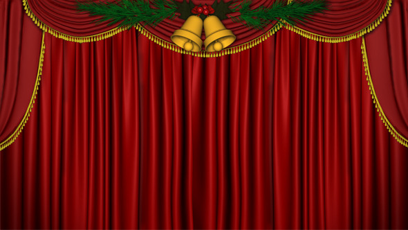 Christmas Curtain Open